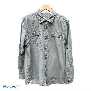 Men's Calvin Klein Long Sleeve Button Down Large